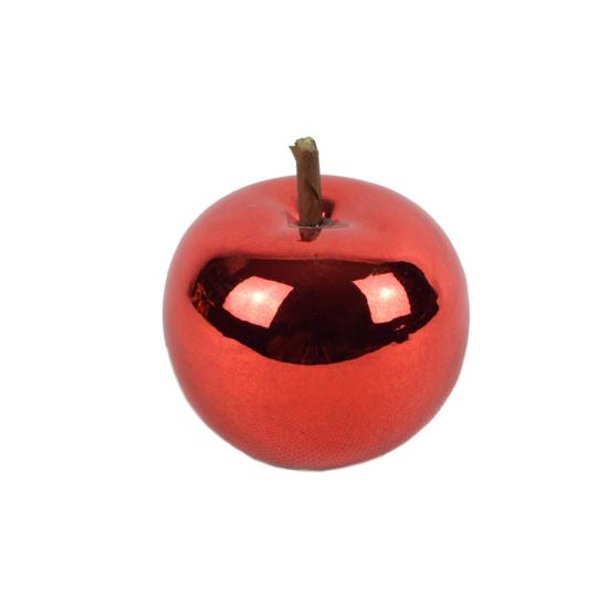 Őszi dekoráció - kerámia alma - piros - 5 cm