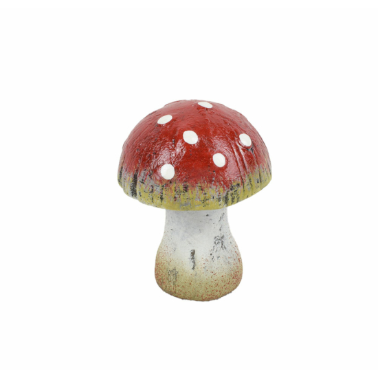 Őszi dekoráció - gomba - rusztikus - piros - kicsi - 9 cm
